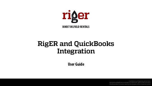 RigER and QuickBooks Integration