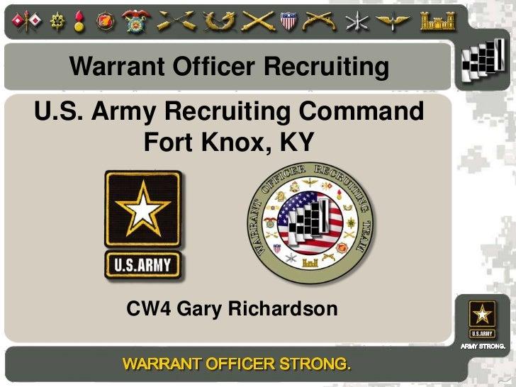 Warrant Officer Recruitingu003cbr /u003eU.S. Army Recruiting CommandFort Knox, ...