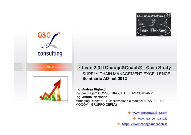 2012    >   Lean 2.0 Il Change&Coach® - Case Study            SUPPLY CHAIN MANAGEMENT EXCELLENCE            Seminario AD-n...