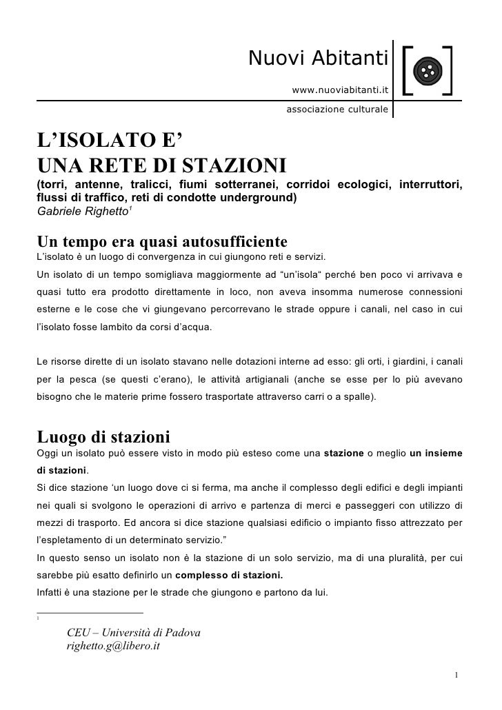 Nuovi Abitanti                                                               www.nuoviabitanti.it                         ...