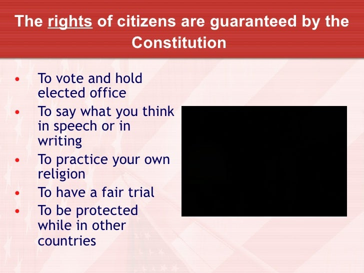 rights and responsibilities of citizens essay Free essay: employment rights & responsibilities as a new employee, the first course of action before commencing in your new job is to sign an employment.