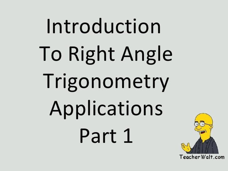 Right Angle Trig App