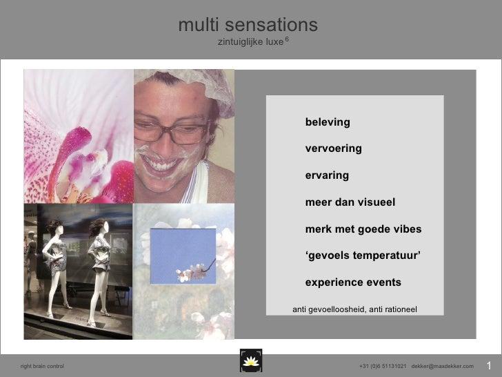 beleving vervoering ervaring  meer dan visueel merk met goede vibes ' gevoels temperatuur' experience events multi sensati...