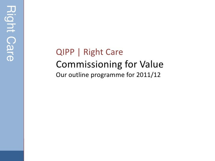 QIPP   Right Care <br />Commissioning for Value<br />Our outline programme for 2011/12<br />Right Care<br />