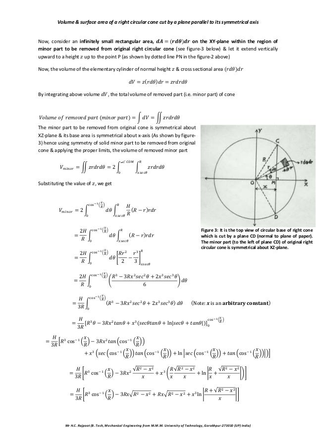 area of plane regions and volume Formulas for perimeter, area, surface, volume edited by joanna gutt-lehr, pin learning lab, 2007  volume = 1/3 area of the base x height v=.