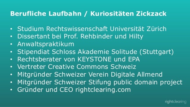 Berufliche Laufbahn / Kuriositäten Zickzack • • • • • • • • •  Studium Rechtswissenschaft Universität Zürich Diss...