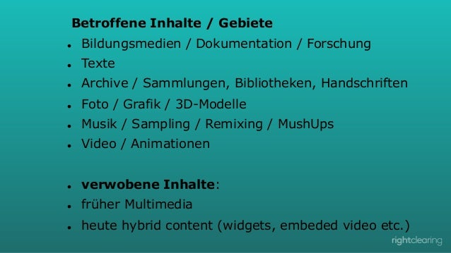 Betroffene Inhalte / Gebiete l  Bildungsmedien / Dokumentation / Forschung  l  Texte  l  Archive / Sammlungen, Bibli...