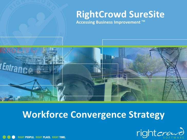 RightCrowd SureSite           Accessing Business Improvement TMWorkforce Convergence Strategy