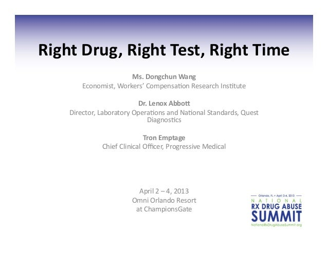Right	  Drug,	  Right	  Test,	  Right	  Time	                               Ms.	  Dongchun	  Wang	             Economist,	...