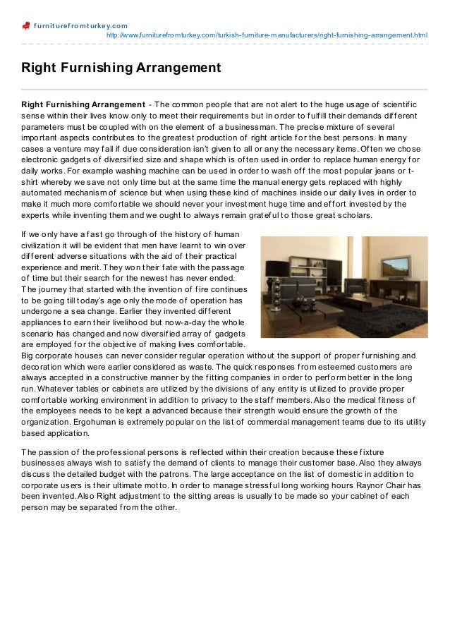 f urnit uref romt urkey.comhttp://www.furniturefromturkey.com/turkish-furniture-manufacturers/right-furnishing-arrangement...