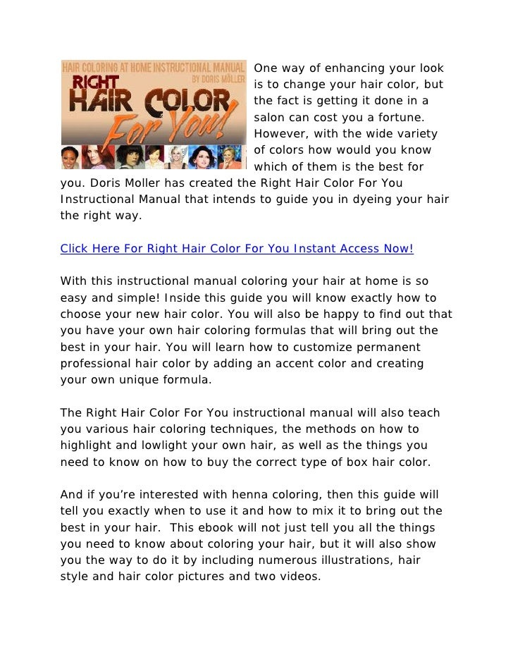 Right Hair Color For You Hair Coloring Specialist Review