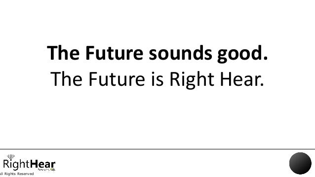 All Rights Reserved The Future sounds good. The Future is Right Hear.