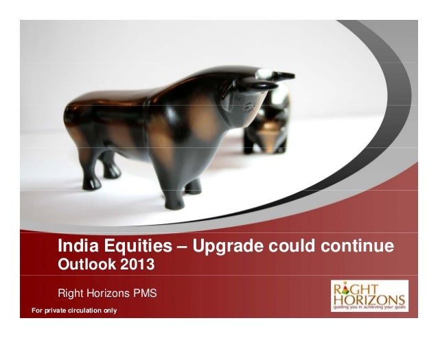 India Equities – Upgrade could continue        Outlook 2013        Right Horizons PMS              YOUR LOGOFor private ci...