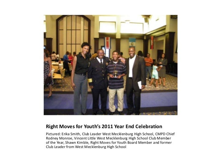 Right Moves for Youth's 2011 Year End Celebration<br />Pictured: Erika Smith, Club Leader West Mecklenburg High School, CM...