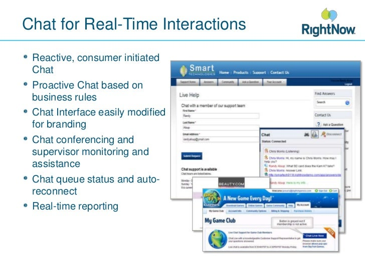 Chat for Real-Time Interactions<br />Reactive, consumer initiated Chat<br />Proactive Chat based on business rules<br />Ch...