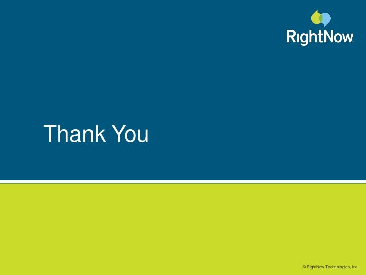 RightNow Customers Set the Standard<br />