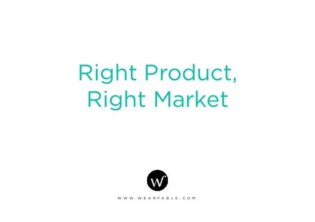 Right Product, Right Market W W W . W E A R F A B L E . C O M