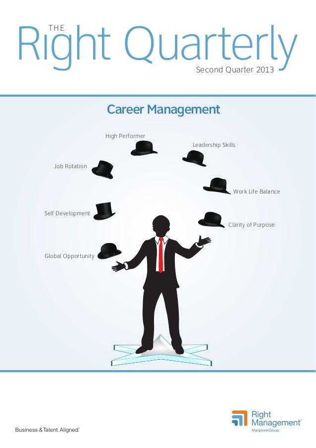 Right Quarterly THE  Second Quarter 2013  Career Management High Performer Leadership Skills Job Rotation  Work Life Balan...