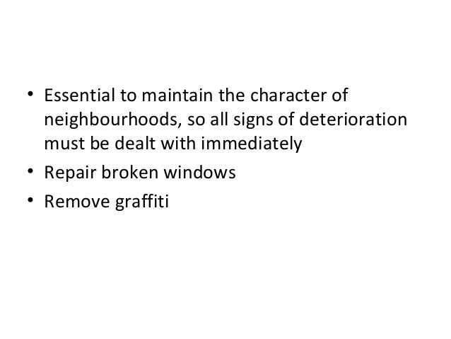 broken windows essay