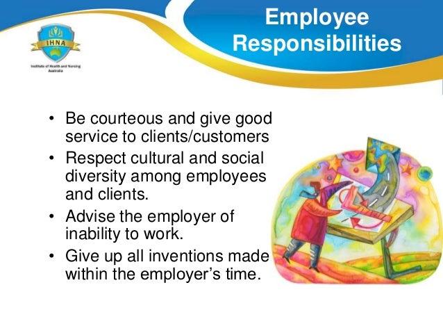 Understanding Employment Responsibilities and Rights Essay