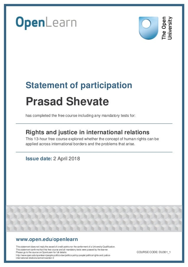 Rights and justice in international relations