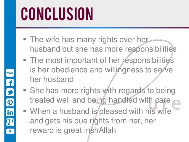 Treat Muslim How Her Husband Should A Woman
