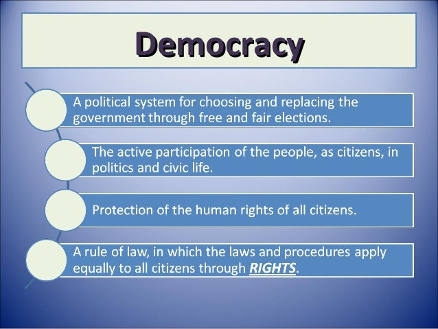 Rights in a democracy class IX