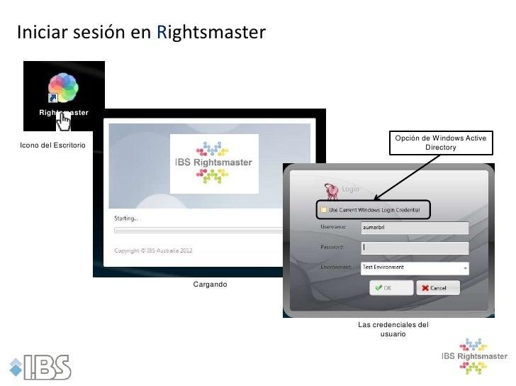 Iniciar sesión en Rightsmaster     Rightsmaster                                            Opción de Windows ActiveIcono d...