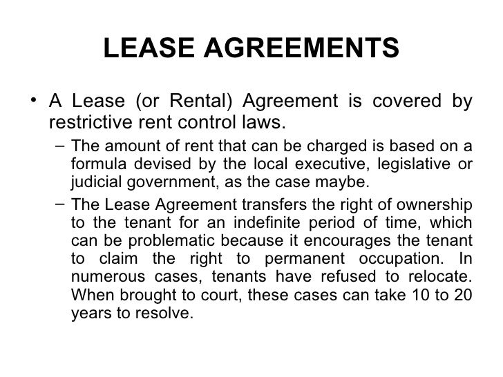 Rights Of Tenants Under Tamilnadu Rent Control Act