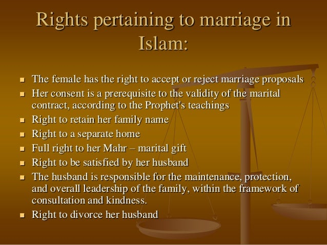 women rights in islam The rights of a divorced woman in islam many people deliberately dismiss the rights of divorced women, is not limited to the committing of this.
