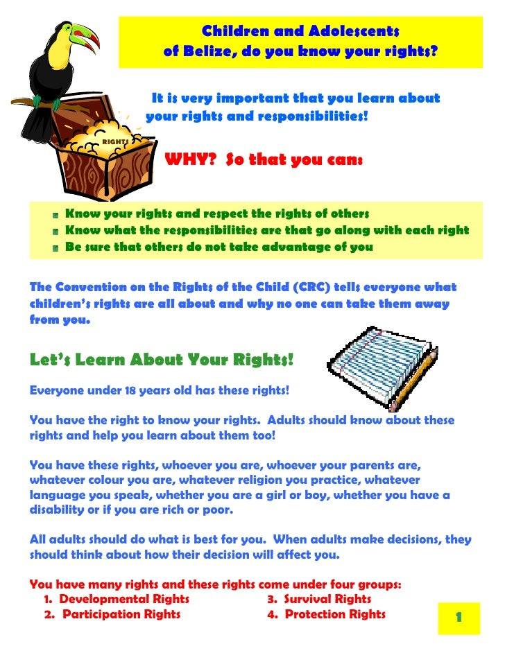what are the rights and responsibilities of a child
