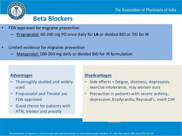 Atenolol Dosing For Migraine