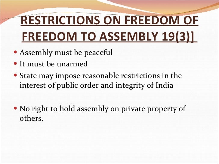 freedom to assemble peaceably