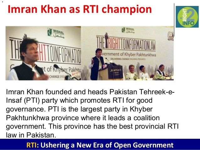 pakistan ordinance freedom of information ordinance Right to freedom of expression and hence rti, which it encompasses,  8  section 2(i) of the pakistan freedom of information ordinance 2002.