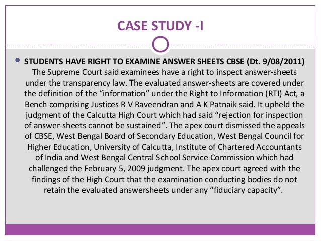 rti situation study example