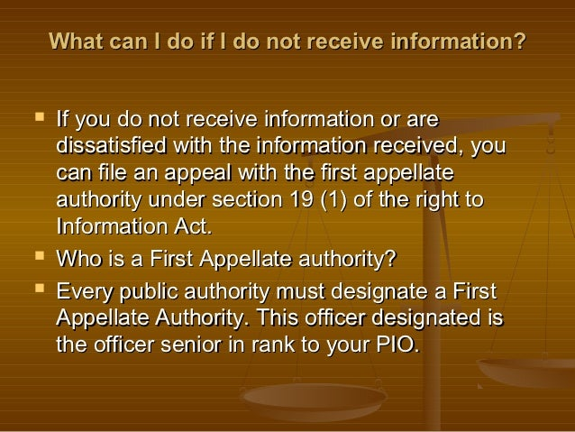 Right To Information Act - An Overview