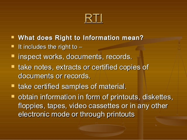 right to information rti act Chri: promotion of right to information the commonwealth human rights initiative (chri), which serves as the secretariat for the coalition on the right to information-ghana (rti coalition).