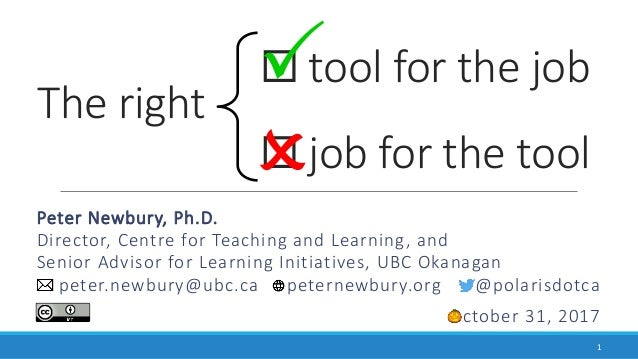 The right Peter Newbury, Ph.D. Director, Centre for Teaching and Learning, and Senior Advisor for Learning Initiatives, UB...