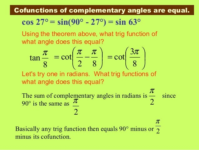 how to write a trig function in terms of another