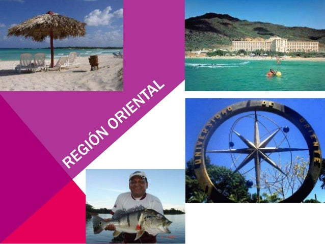 Ubicada al sureste deVenezuela, integrada por losestados: Anzoátegui,Monagas, Sucre y NuevaEsparta representa el 45%de la ...