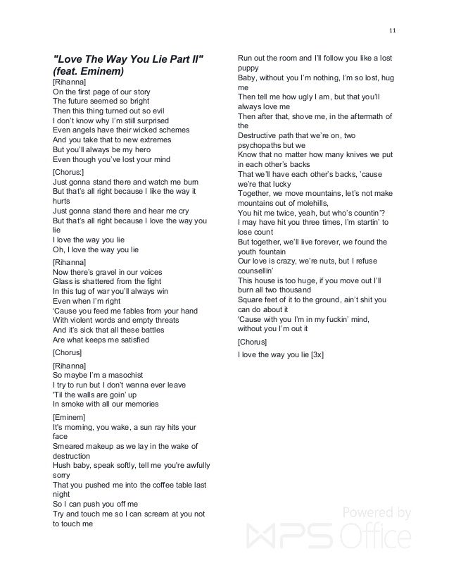Lyric la la lie lyrics : RIHANNA HIT LYRICS