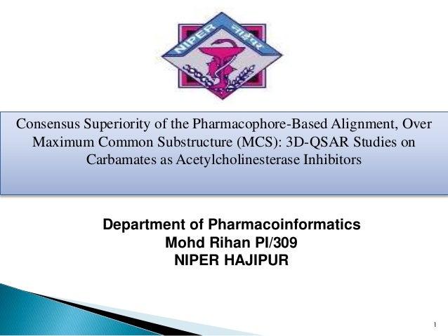 1 Department of Pharmacoinformatics Mohd Rihan PI/309 NIPER HAJIPUR Consensus Superiority of the Pharmacophore-Based Align...