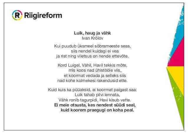 Riigireform – Ott Pärna 25.11.2014 Slide 3