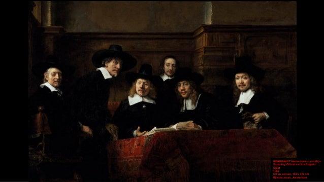 REMBRANDT Harmenszoon van Rijn Sampling Officials of the Drapers' Guild (detail) 1662 Oil on canvas, 192 x 279 cm Rijksmus...