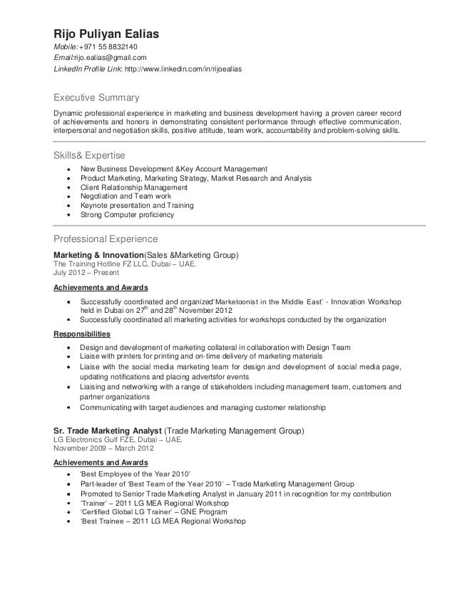Resume Format For Experienced Cabin Crew