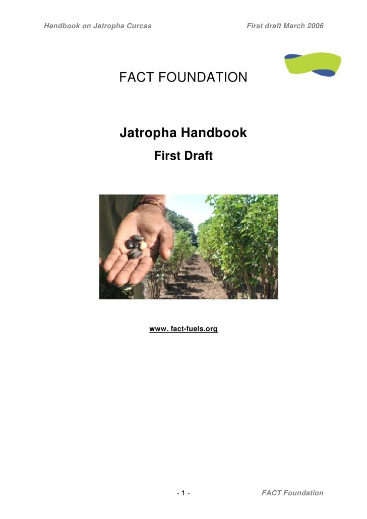 Handbook on Jatropha Curcas                     First draft March 2006                  FACT FOUNDATION                   ...