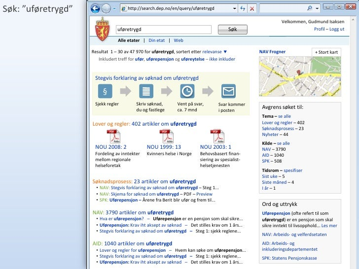 """Søk: """"uføretrygd""""                     http://search.dep.no/en/query/uføretrygd                                            ..."""