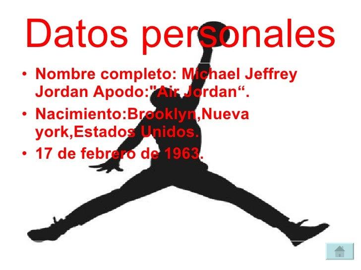 michael jordan nombre completo