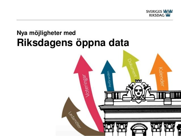 Nya möjligheter med  Riksdagens öppna data