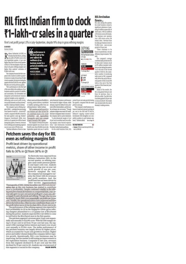 Ril 1st indian firm to clock